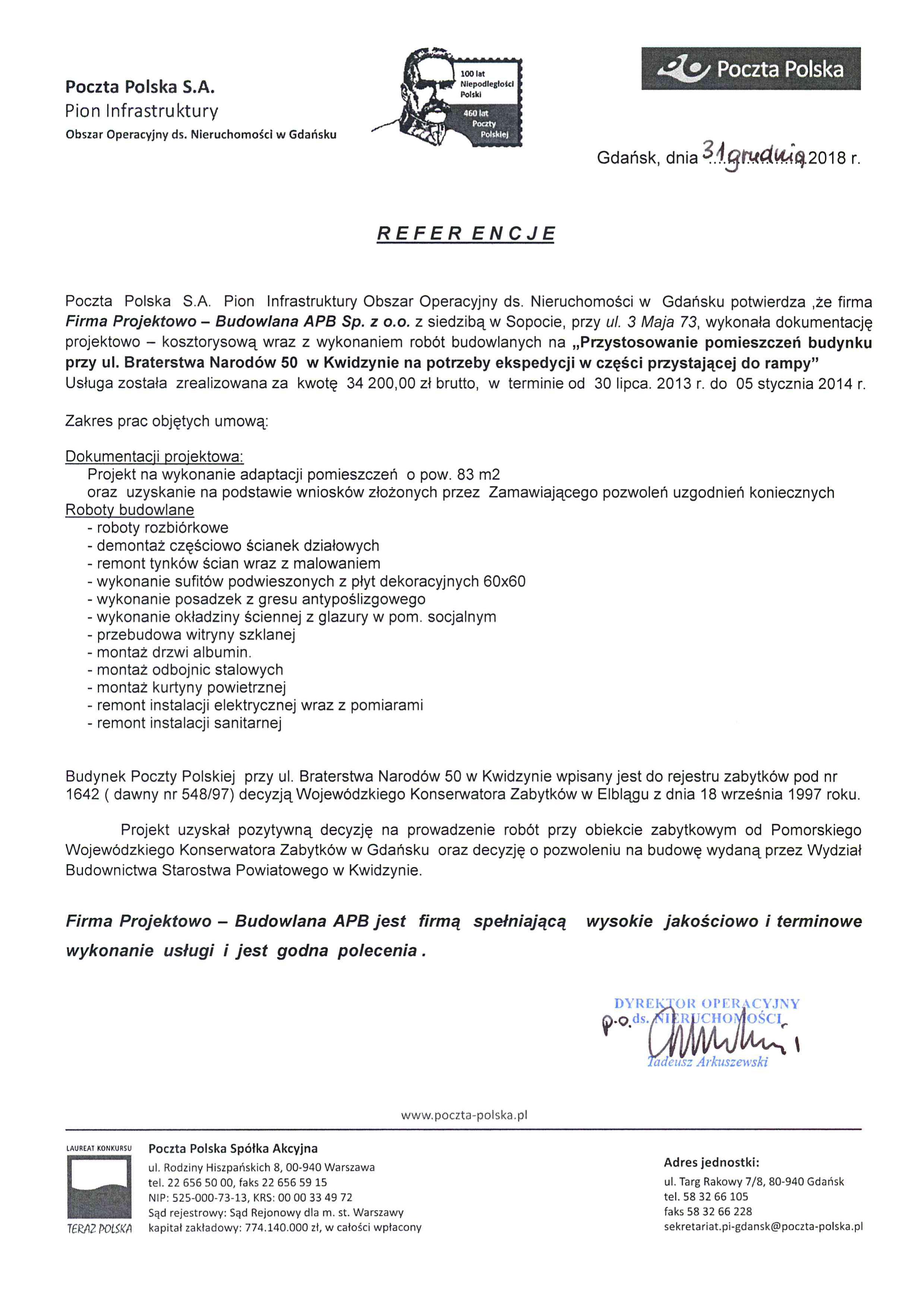 Poczta Polska - Kwidzyn